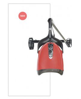 Secador de casco aéreo iónico rojo