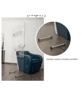 Mampara protección lavacabezas
