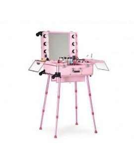 Maletín maquillaje portátil rosa